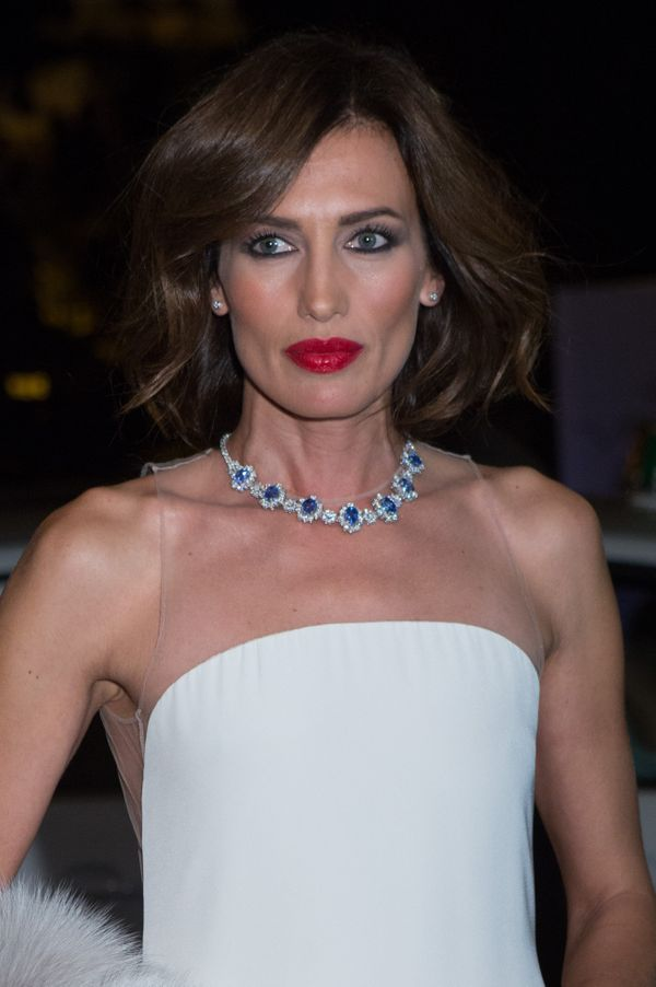 The 41-year-old Spanish model oozes glamour with her perfectly coiffed hair, heavily-lined eyes, red lipstick and stunni