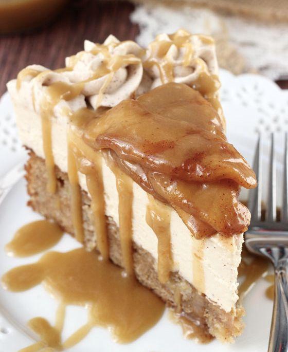 "<strong>Get the <a href=""http://www.lifeloveandsugar.com/2014/09/15/caramel-apple-blondie-cheesecake/"" target=""_blank"">Carame"