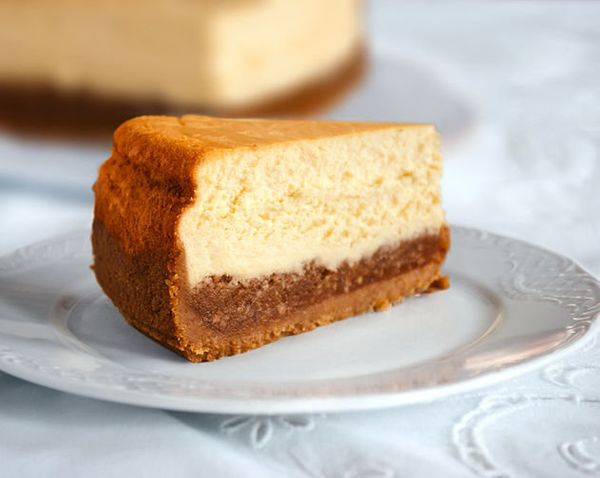 """<strong>Get the <a href=""""http://food52.com/recipes/22178-pecan-pie-cheesecake"""" target=""""_blank"""">Pecan Pie Cheesecake recipe</a"""