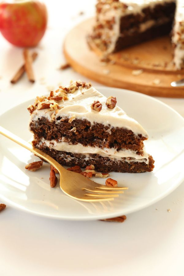"""<strong>Get the <a href=""""http://minimalistbaker.com/1-bowl-apple-gingerbread-cake/"""" target=""""_blank"""">One-Bowl Apple Gingerbrea"""