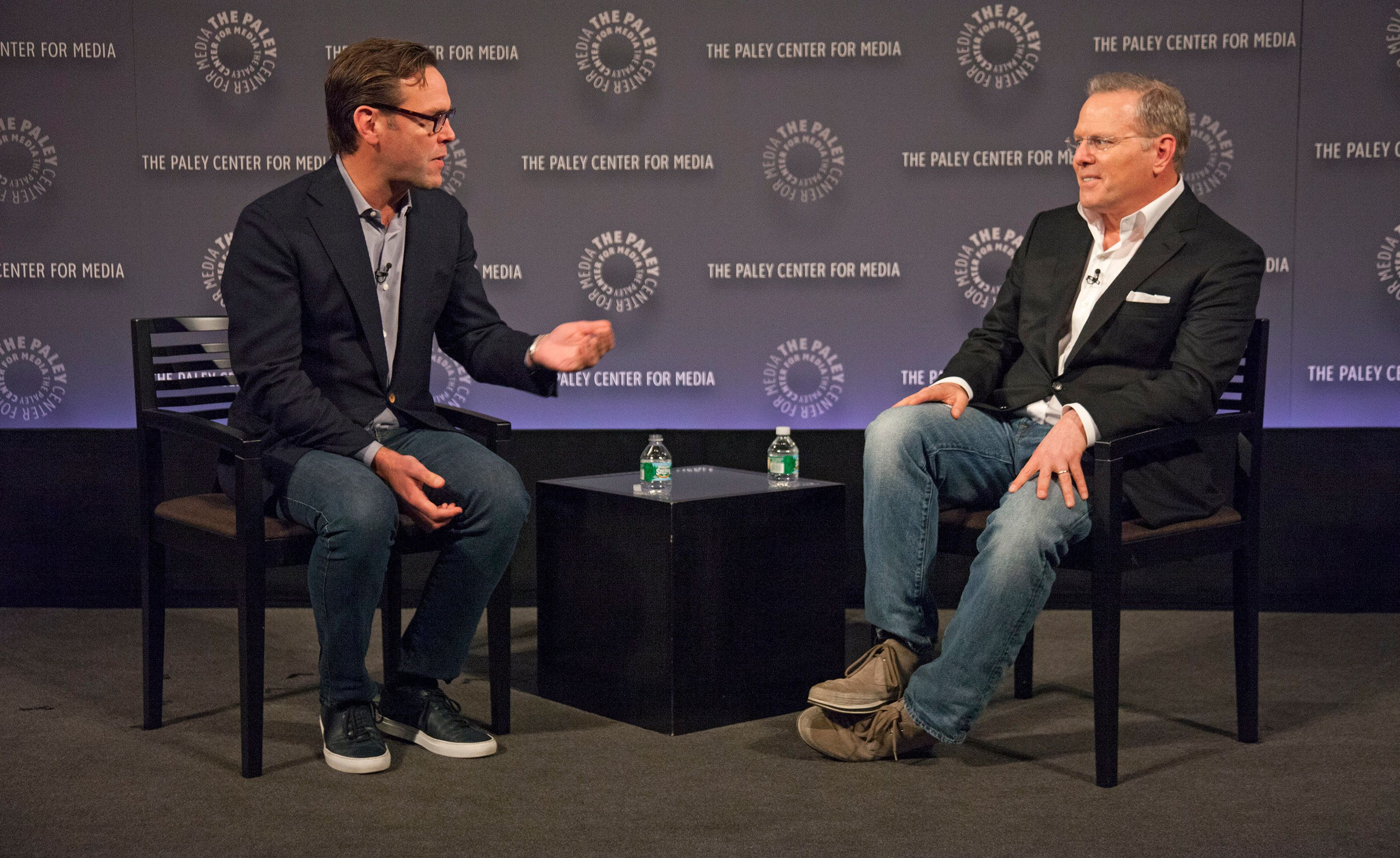 CEO of 21st Century Fox James Murdoch and David Zaslav, President and CEO of Discovery Communications speak at The Paley Center for Media's International Council Summit on Nov. 19th, 2015.