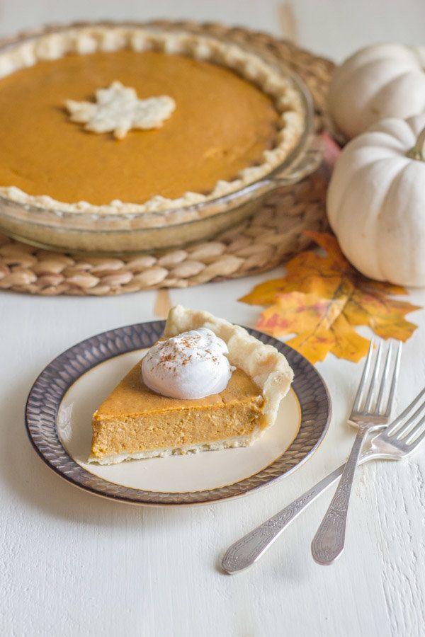 """<strong>Get the <a href=""""http://lovelylittlekitchen.com/classic-pumpkin-pie-pie-crust-tutorial/"""">Classic Pumpkin Pie recipe</"""