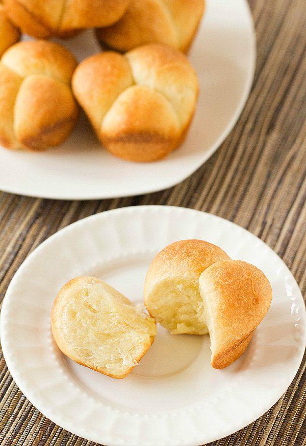 """<strong>Get the <a href=""""http://www.browneyedbaker.com/cloverleaf-dinner-rolls/"""" target=""""_blank"""">Cloverleaf Rolls recipe</a>"""