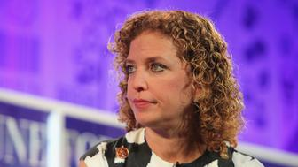 WASHINGTON, DC - OCTOBER 16:  Debbie Wasserman Schultz speaks onstage at the FORTUNE Most Powerful Women Summit on October 16, 2013 in Washington, DC.  (Photo by Paul Morigi/Getty Images for FORTUNE)