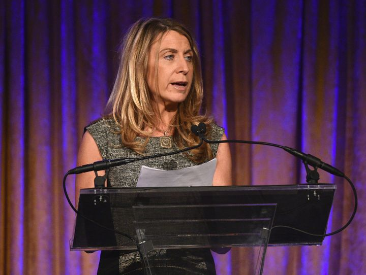 President of NBC News, Deborah Turness speaks onstage during the International Women's Media Foundation's 2015 Courage in Jou