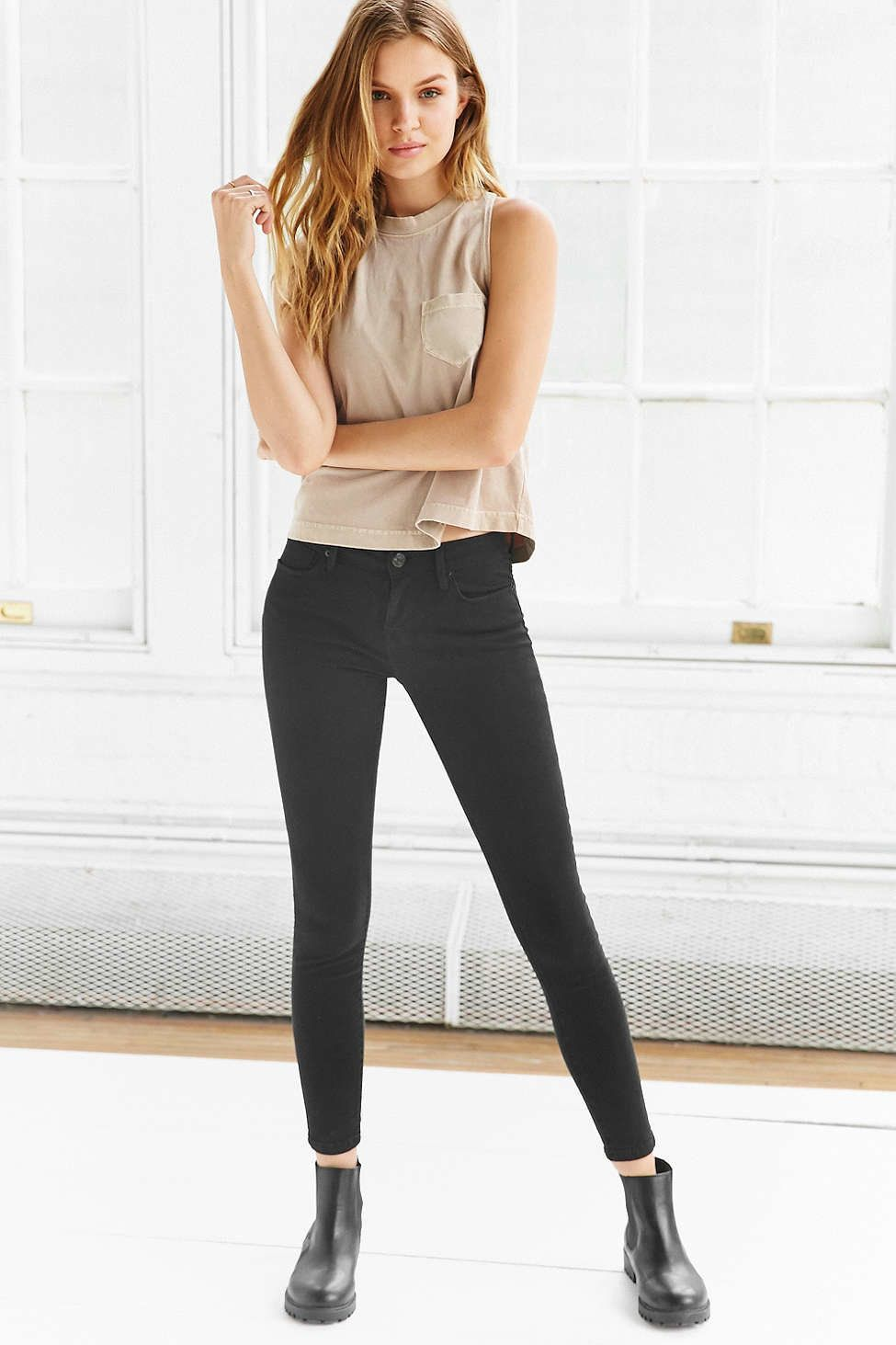 Skinny jeans for curvy thighs