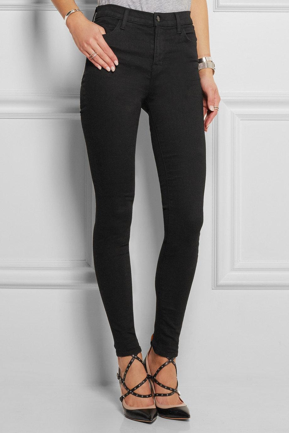 Black skinny jeans for big thighs