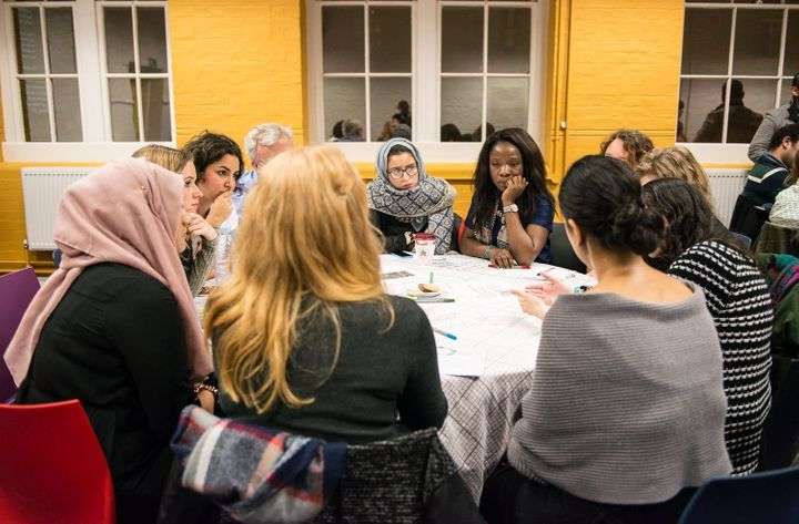 Participants at the Interfaith Summit take part in a workshop about gender, religion, and politics.