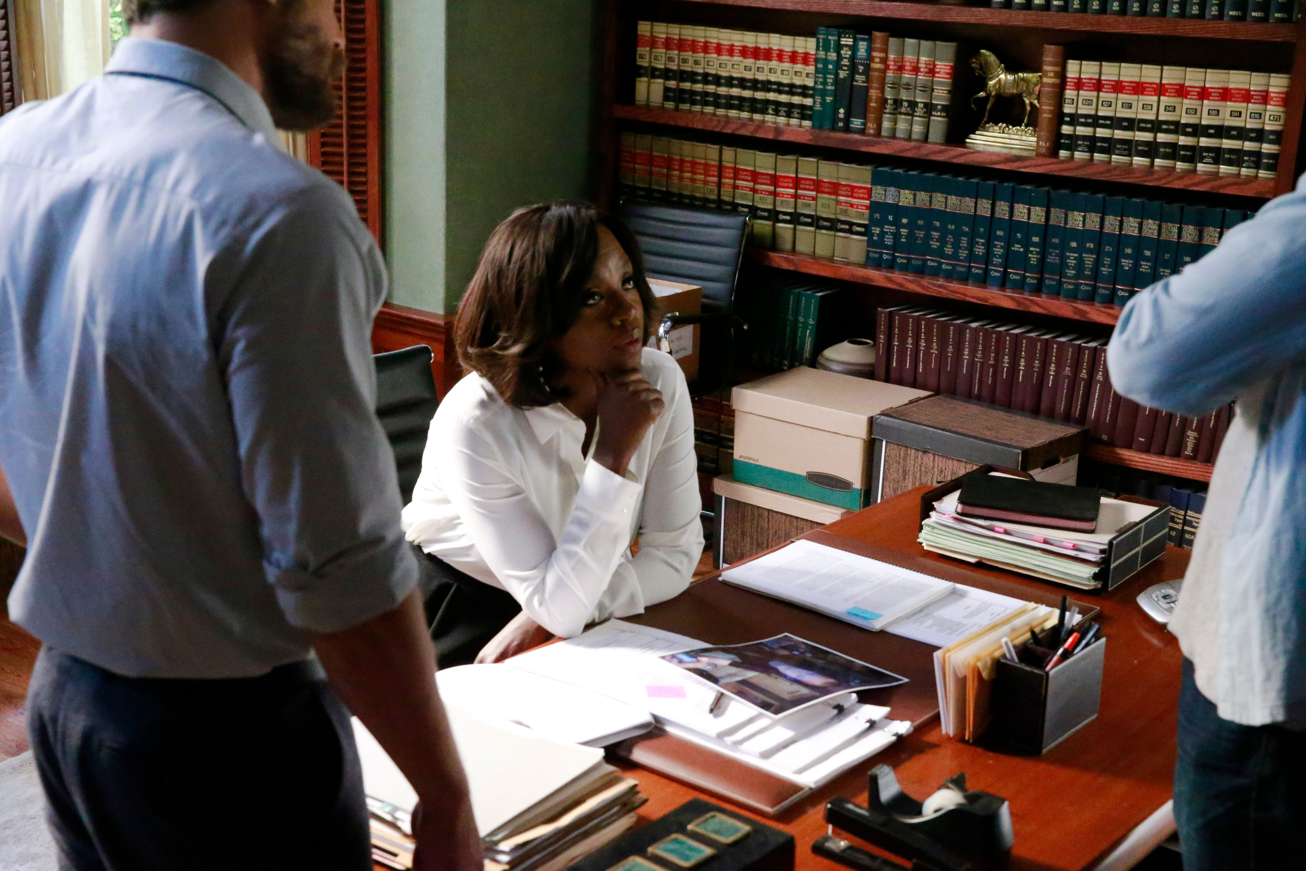 HOW TO GET AWAY WITH MURDER - 'What Did We Do?' - ADA Sinclair discovers a break in her favor in the Hapstall case, but her actions result in a deadly outcome as details are revealed about the night Annalise was shot, including the person responsible for pulling the trigger, on the winter finale of  'How to Get Away with Murder,' THURSDAY, NOVEMBER 19 (10:00-11:00 p.m., ET) on the ABC Television Network. (Photo by Mitch Haaseth/ABC via Getty Images)
