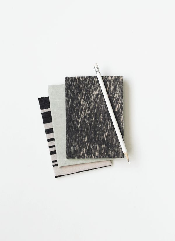 """Please your favorite wordsmith with these homemade recycled fabric notebooks. <a href=""""http://www.almostmakesperfect.com/2015"""