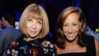NEW YORK, NY - SEPTEMBER 10:  Anna Wintour and Donna Karan attend the Novak Djokovic Foundation New York dinner at Capitale on September 10, 2013 in New York City.  (Photo by Dimitrios Kambouris/Getty Images for Novak Djokovic Foundation)