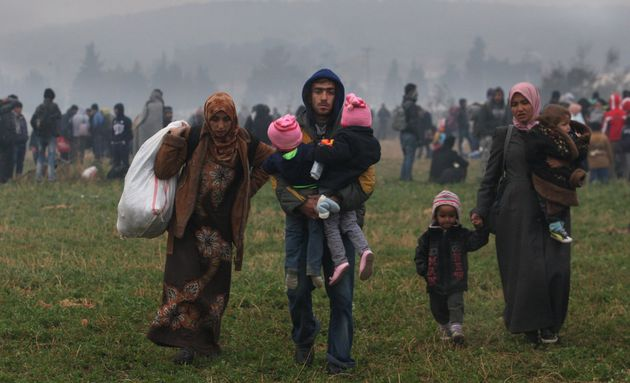 "<span class='image-component__caption' itemprop=""caption"">Macedonia's newly tightened border controls have created a bottleneck for hundreds on the northern Greek border.</span>"