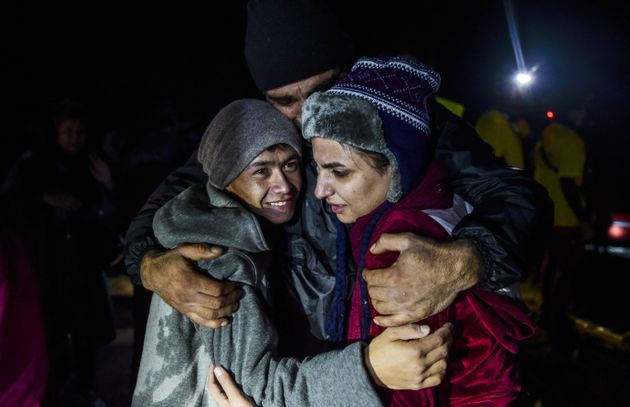 "<span class='image-component__caption' itemprop=""caption"">Refugees continue to reach the Greek island of Lesbos by sea.</span>"