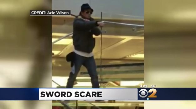 Cellphone footage shows the suspect during the incident at the Manhattan flagship Apple store.