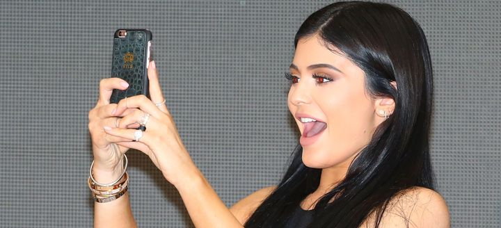 Kylie Jenner is letting the world know she's doing just fine after her split from Tyga.