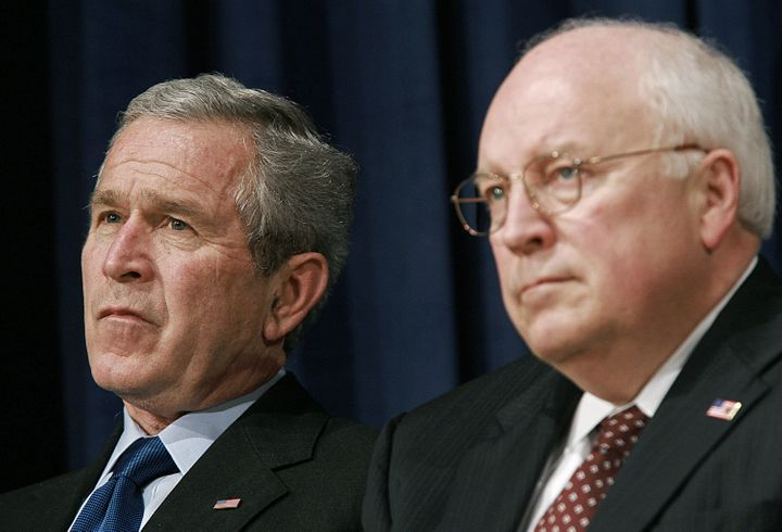Former U.S. President George W. Bush and former Vice President Dick Cheney in 2006.
