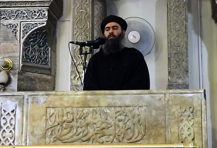 ISIS leader Abu Bakr al Baghdadi, seen here in an image from a video released on July 5, 2014, spent time in a U.S.