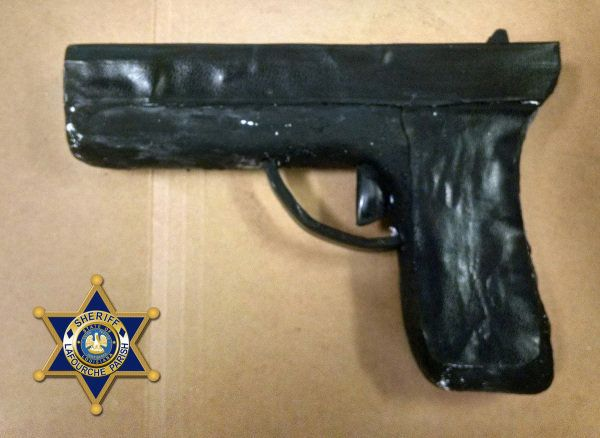 Inmates allegedly wanted to use this fake soap gun to bust themselves out of jail