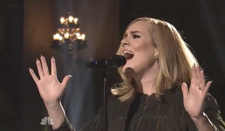 """Adele performed on this weekend's """"Saturday Night Live."""""""
