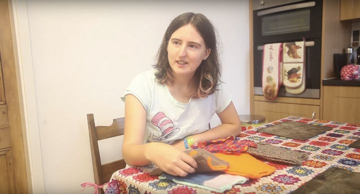 Nicola Congdon, 25, has been knitting the sweaters with her mother for the last six months.