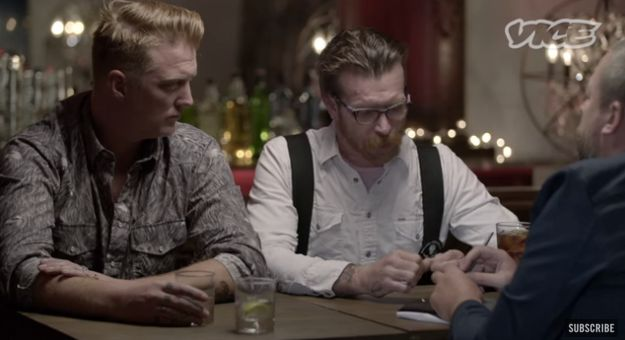 Eagles of Death Metal Jesse Hughes and Joshua Homme talk to Vice about Paris terror attack.