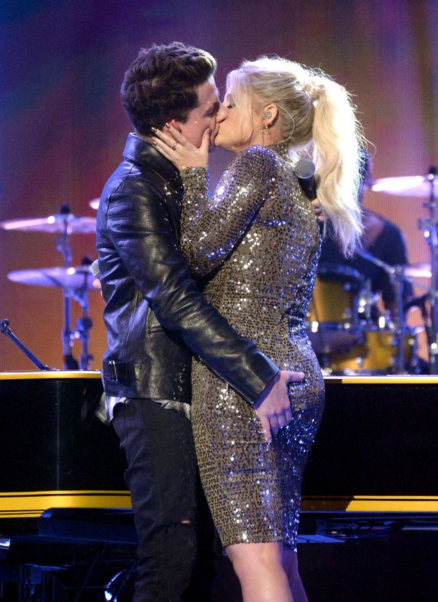 Meghan Trainor And Charlie Puth Had A Steamy Makeout Session At The