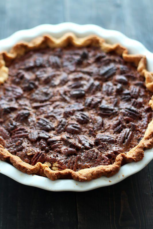"<strong>Get the <a href=""http://www.handletheheat.com/chocolate-pecan-pie/"">Chocolate Pecan Pie recipe</a> from Handle T"