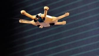 SAN FRANCISCO, CA - SEPTEMBER 21:  A drone flies onstage during day one of TechCrunch Disrupt SF 2015 at Pier 70 on September 21, 2015 in San Francisco, California.  (Photo by Steve Jennings/Getty Images for TechCrunch)