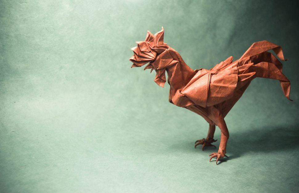 Origami Rooster, original design by Satoshi Kamiya