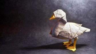 Origami Duck, design by Katsuta Kyohei