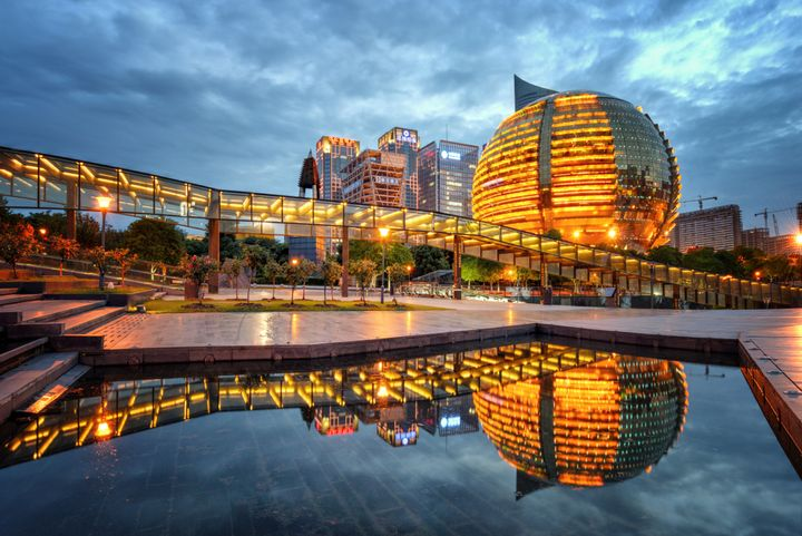 The city of Hangzhou, the capital of China's Zhejiang province, where Xiao Yun was found to be living.