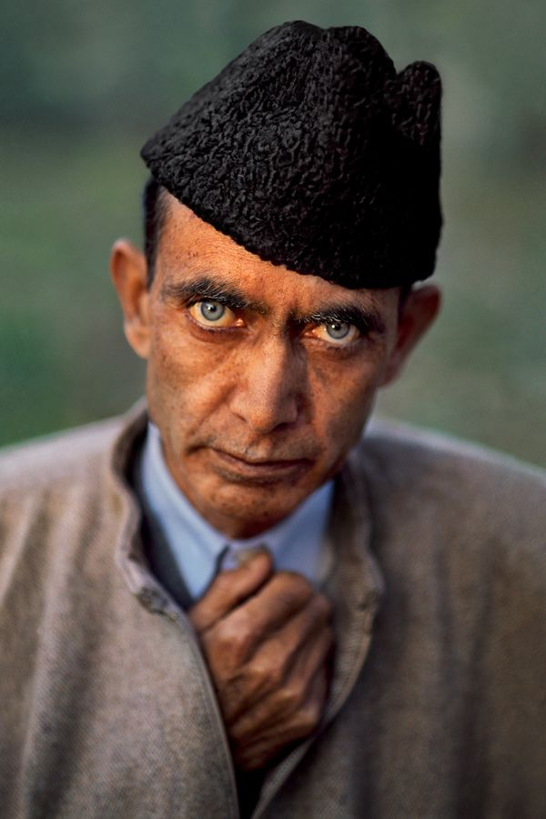 Portrait of engineer Maqbool Andrabi, Srinagar, Kashmir; 1999