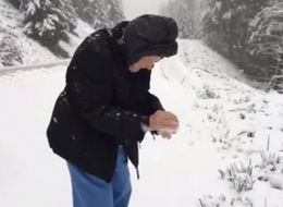 This 101-Year-Old Playing In Snow Will Melt Your Heart