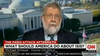 """Former CIA officer and blogger Michael Scheuer appears on CNN's """"Smerconish"""" on Nov. 21, 2015."""