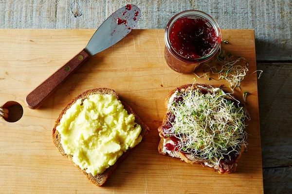 """<strong>Get the <a href=""""http://food52.com/recipes/6877-micki-s-turkey-cranberry-and-cream-cheese-comfort-sandwich"""" target=""""_"""