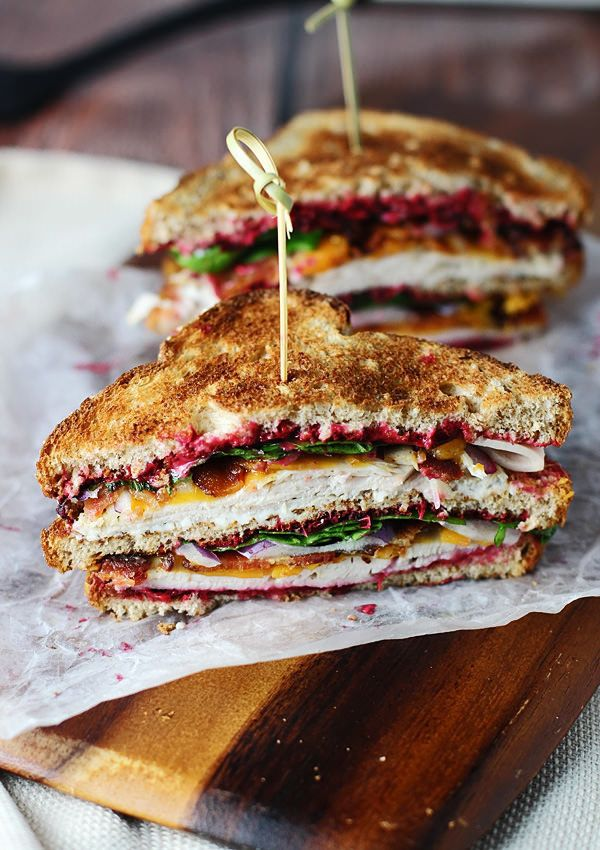 "<strong>Get the <a href=""http://www.ohsweetbasil.com/ultimate-leftover-turkey-club.html"">Leftover Turkey Club recipe</a> from"