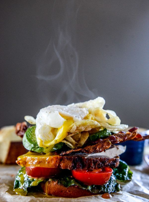 "<strong>Get the <a href=""http://www.howsweeteats.com/2014/11/roasted-turkey-potato-chip-blat/"">Roasted Turkey BLAT With Poach"