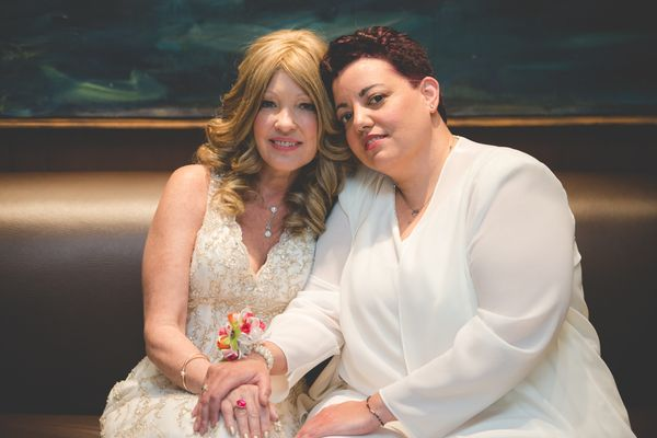 """""""We did this wedding for free as part of Wish Upon a Wedding. Kelly was diagnosed with several forms of cancer and has since"""
