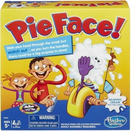 "Fun for the whole family. <i>($14.88, <a href=""http://www.walmart.com/ip/Pie-Face-Game/46201753"">Walmart</a>)</i>"