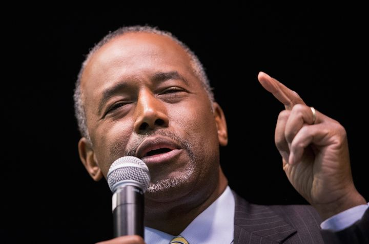 Presidential candidate Ben Carson saidhe saw newsreel footage of Muslimsin the U.S.cheering on the Sept. 11