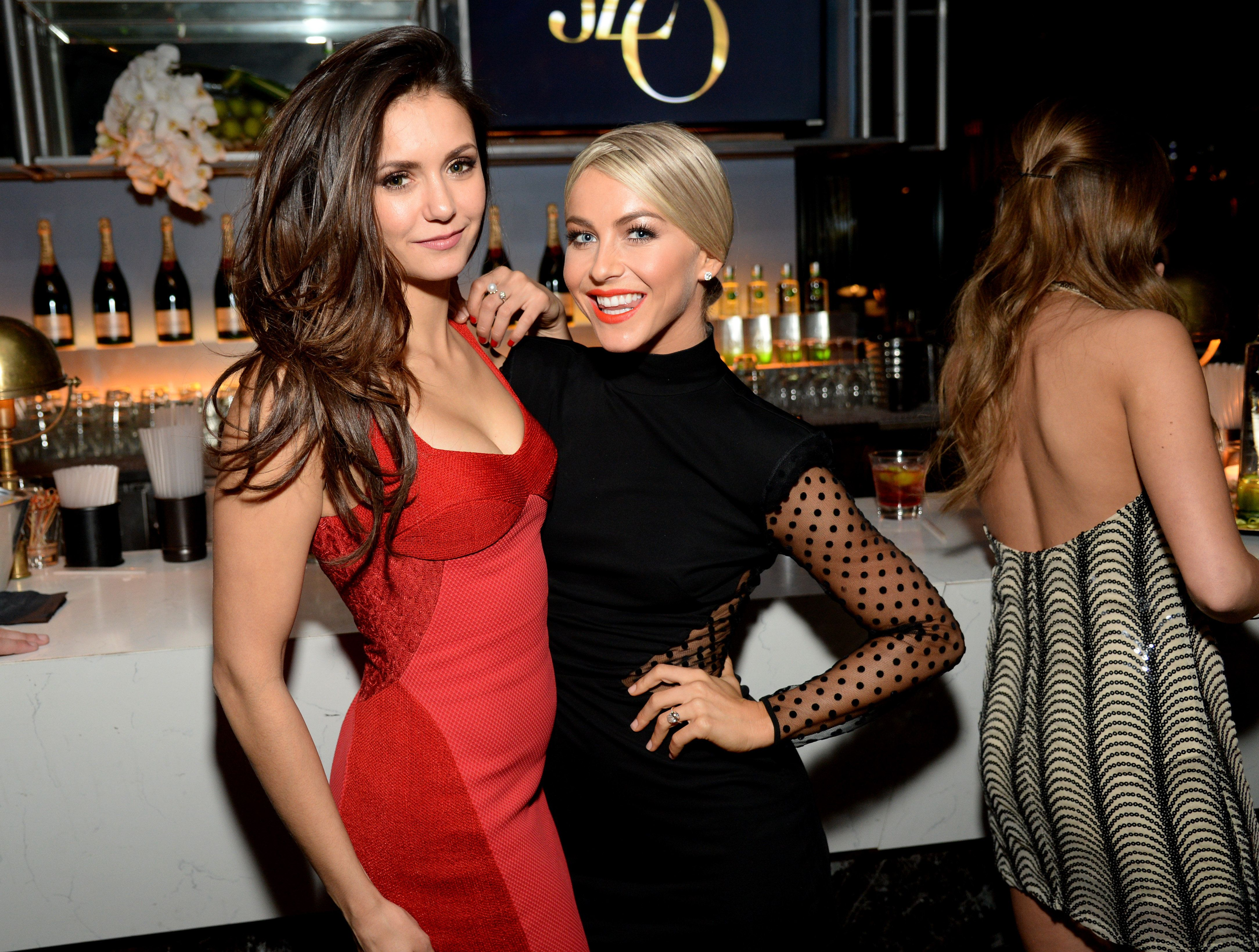 WEST HOLLYWOOD, CA - NOVEMBER 22:  Nina Dobrev and Julianne Hough attend the Moet & Chandon AMA After Party with Jennifer Lopez at HYDE Sunset: Kitchen + Cocktails on November 22, 2015 in West Hollywood, California.  (Photo by Michael Kovac/Getty Images for Moet & Chandon)