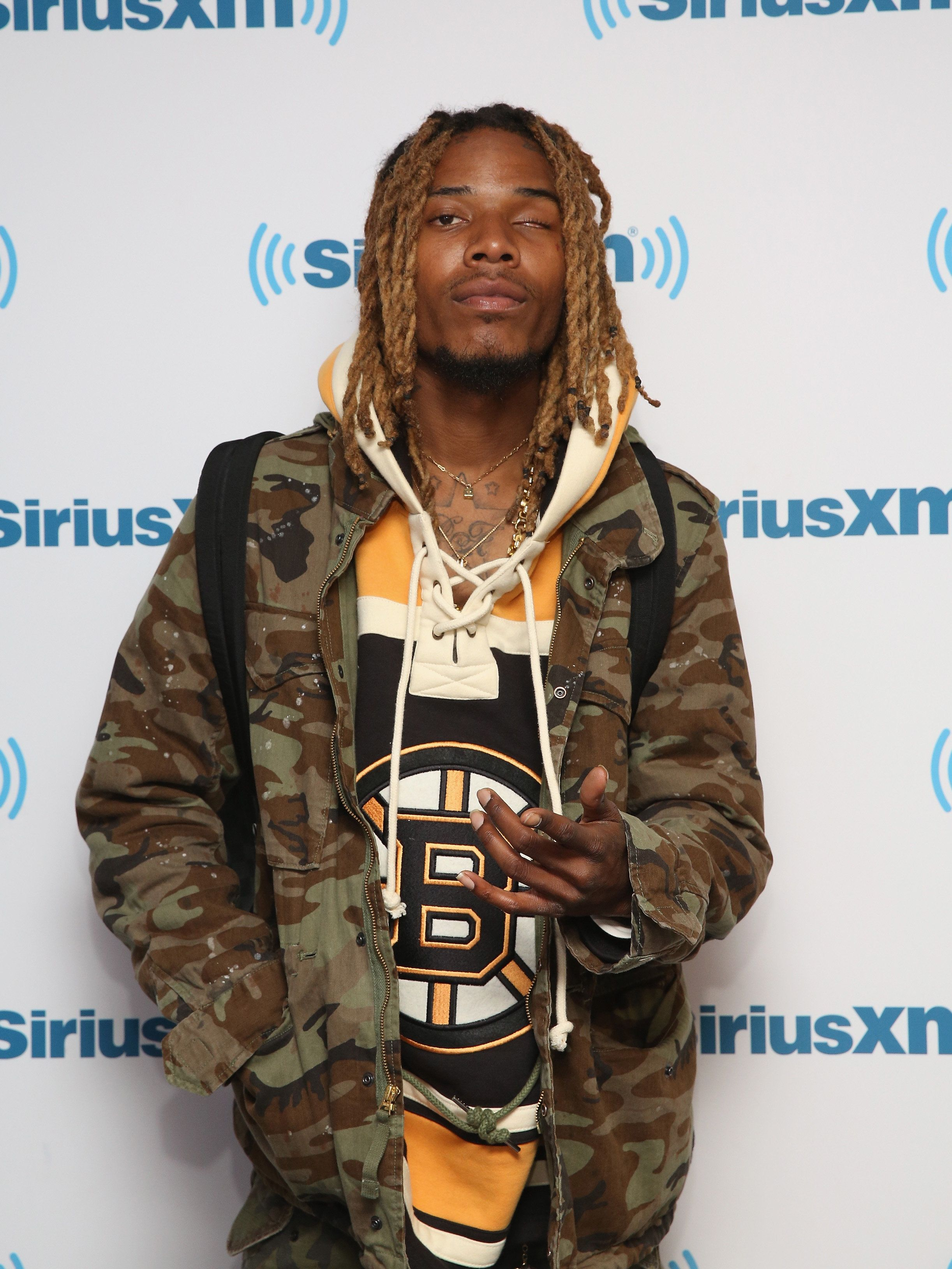 NEW YORK, NY - SEPTEMBER 25:  Fetty Wap visits at SiriusXM Studios on September 25, 2015 in New York City.  (Photo by Robin Marchant/Getty Images)