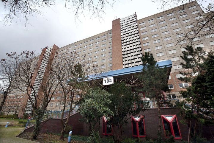 Some 465 refugees and asylum seekers in Berlin were lodged in the former headquarters of the Stasi, the secret police of the