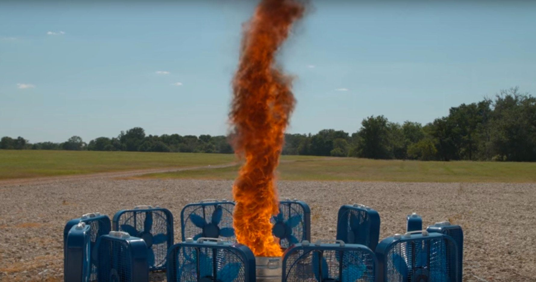 A fire tornado caught in high definition and slow motion.