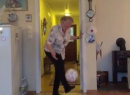 90-Year-Old Grandma Displays The 'Keepy-Uppy' Skills Of A Pro