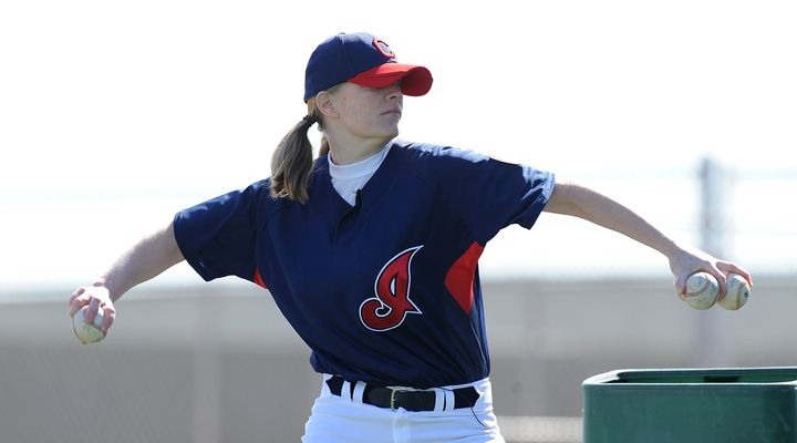 Justine Siegal also threw batting practice to the Cleveland Indians in 2011, making her the first woman to throw batting