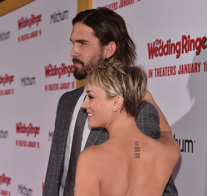 Best sex kaley cuoco back tattoo women images young