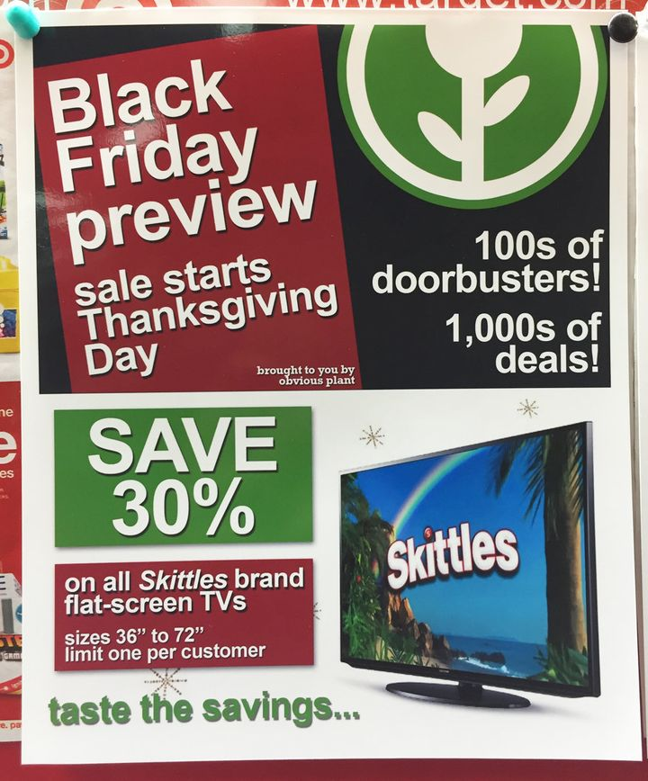 Your local Black Friday doorbuster sales likely have nothing on these hilarious fake ads recently planted in a Target store.