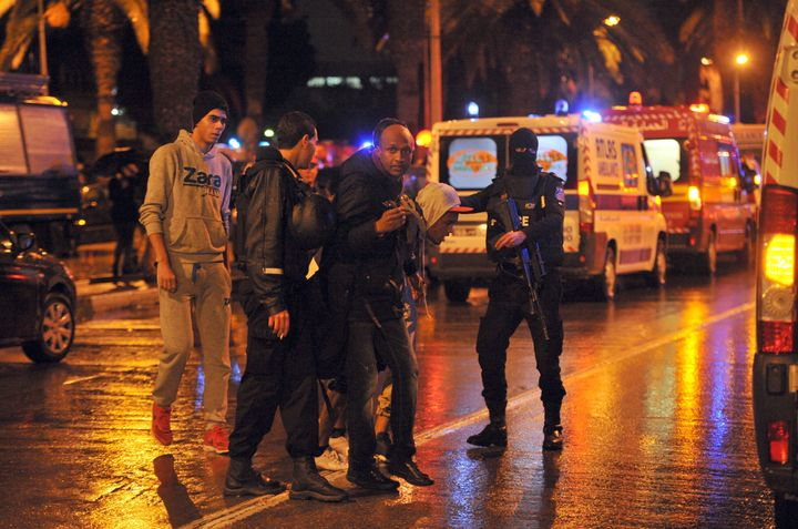 The explosion hit a major thoroughfare in the Tunisian capital.