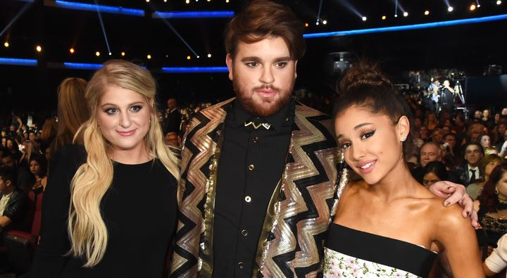 ariana grande meghan trainor guest on new who is fancy song huffpost
